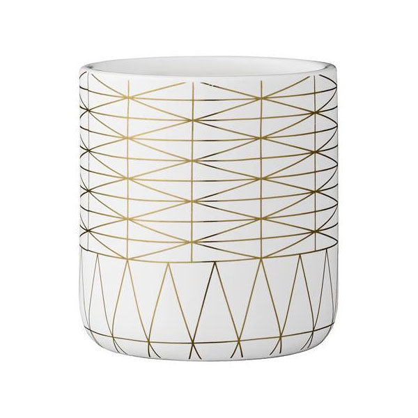 Modern minimalist house decor - Bloomingville Decorative Ceramic White Flower Pot With