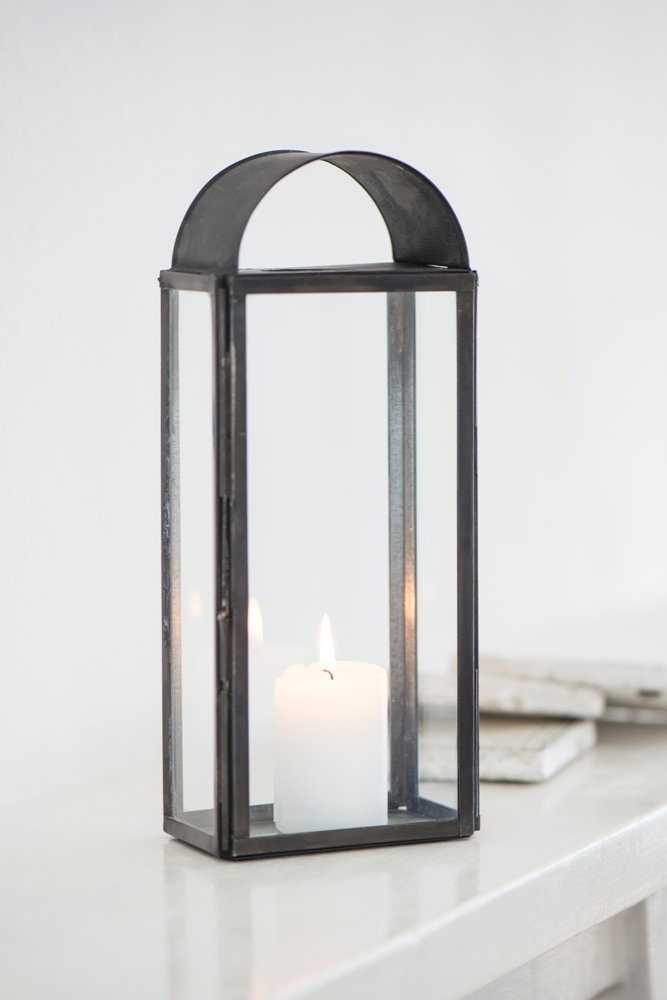Indoor Hammock Chair Stand Glass & Metal Black Oblong Open Chimney Lantern / Candle ...