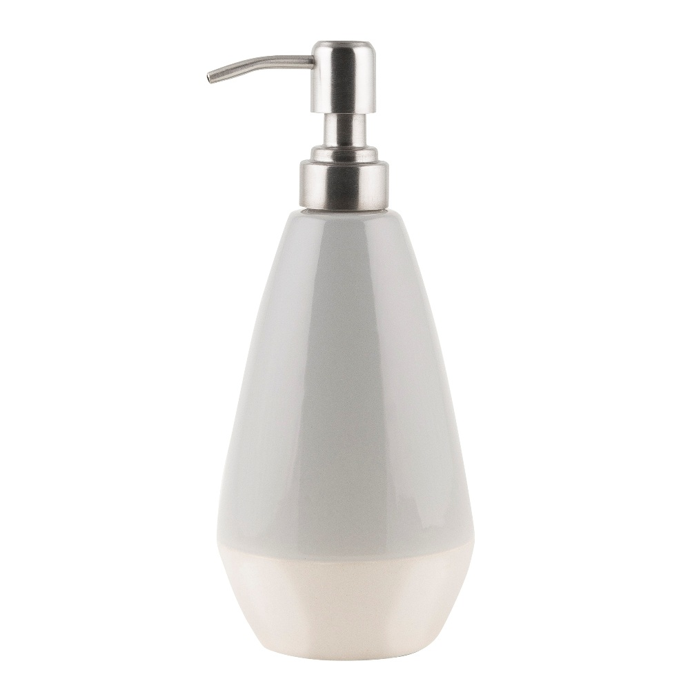 Bathroom Grey Glazed Soap Dispenser Made Of Concrete By Ib