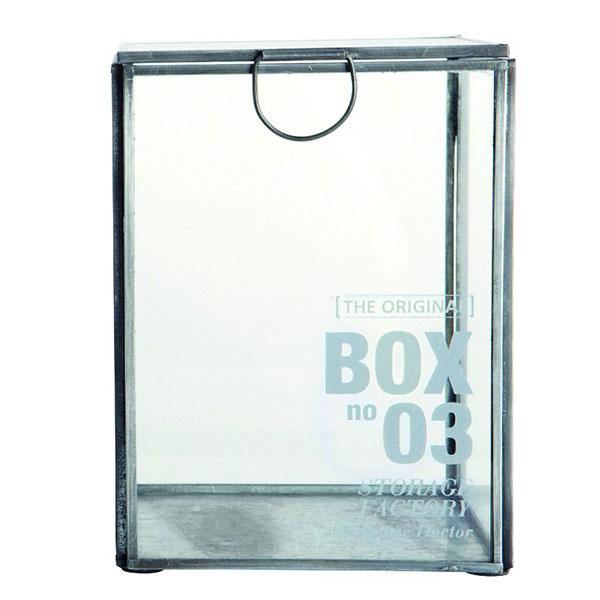Decorative modern storage glass display box danish design