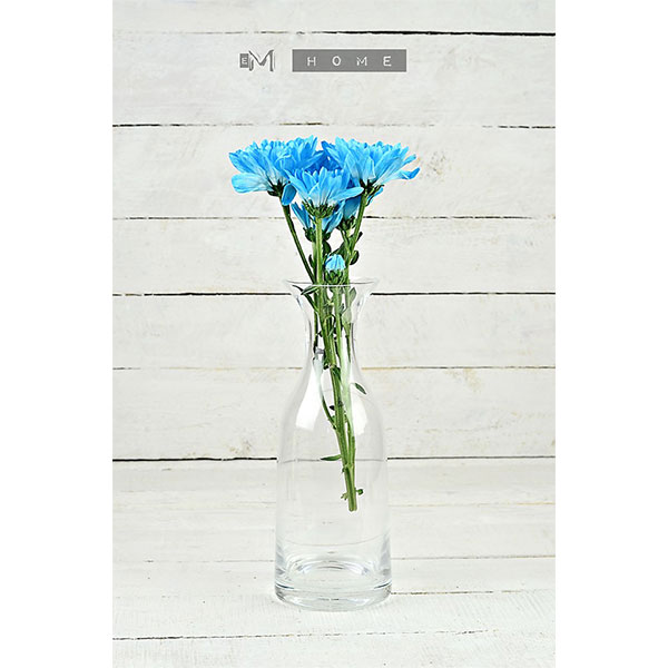 107-decorative-mouth-blown-clear-glass-bottle-flower-vase-bunch-bouquet