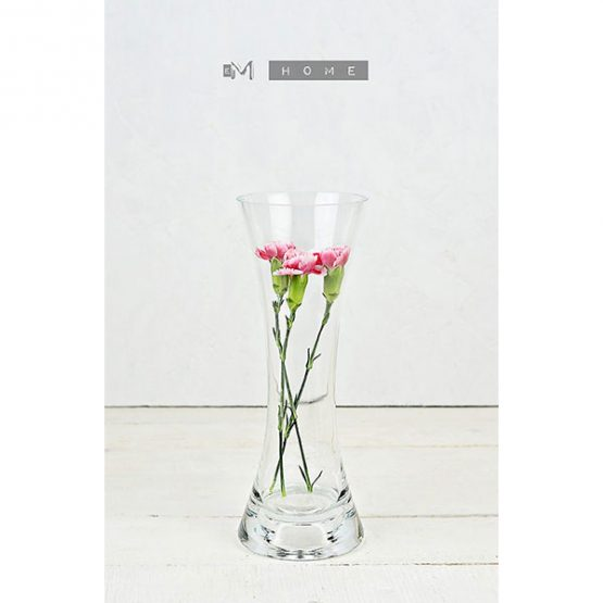 116-clear-glass-flower-vase-or-tealight-holder-2in1-handmade-bunch-bouquet-tall-15-cm-2