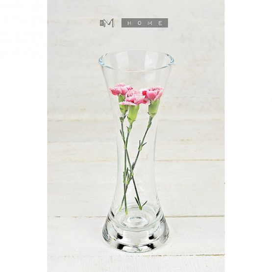 116-clear-glass-flower-vase-or-tealight-holder-2in1-handmade-bunch-bouquet-tall-15-cm-3