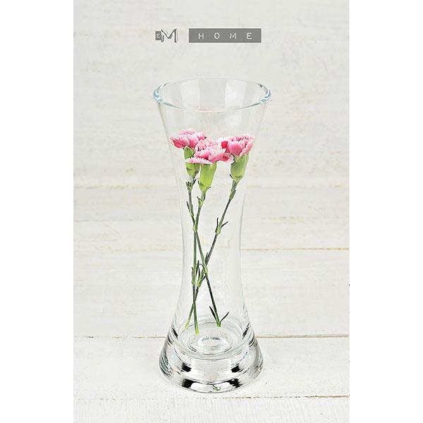 Clear Glass Flower Vase Or Tealight Holder 2 In 1 Handmade Bunch