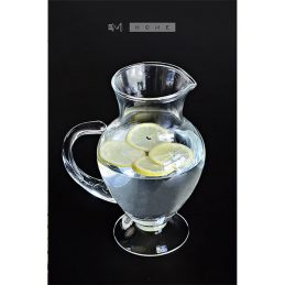 handmade-clear-glass-footed-jug-pitcher-water-wine-juice-cocktail-14l-tall-23cm