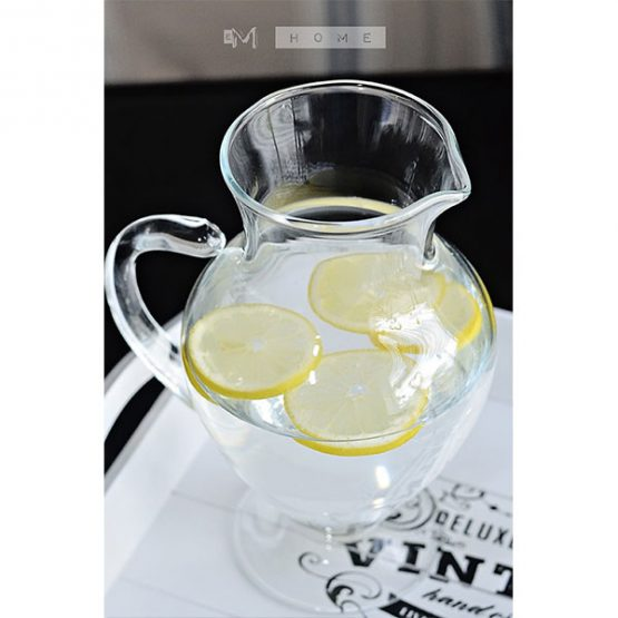 81-handmade-clear-glass-footed-jug-pitcher-water-wine-juice-cocktail-14l-tall-23cm-3