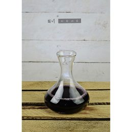 84-handmade-mouth-blown-clear-glass-carafe-decanter-wine-brandy-liquor-whiskey-03l-tall-13cm
