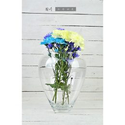pretty-clear-glass-vase-oval-handmade-mouth-blown-flower-bunch-bouquet-tall-335-cm-not-perfect