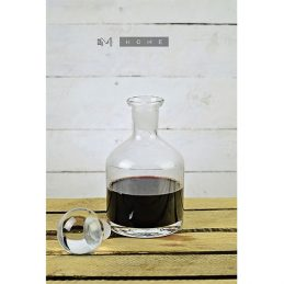 94-handmade-mouth-blown-clear-glass-carafe-decanter-wine-brandy-liquor-whiskey-07l-tall-20cm
