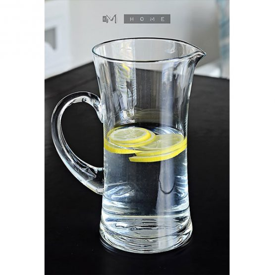 96-handmade-clear-glass-jug-pitcher-water-wine-juice-cocktail-15l-tall-23cm-2