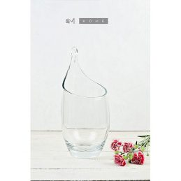 120-contemporary-elegant-clear-glass-vase-large-handmade-mouth-blown-flower-bunch-bouquet-tall-34-cm