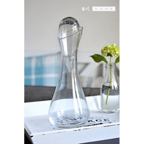 133-handmade-mouth-blown-clear-glass-carafe-decanter-wine-brandy-liquor-whiskey-1l-tall-28cm-1