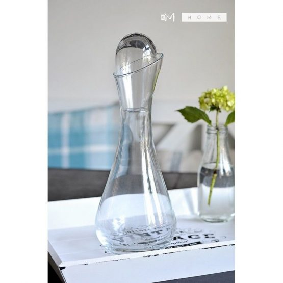 handmade-mouth-blown-clear-glass-carafe-decanter-wine-brandy-liquor-whiskey-1l-tall-28cm