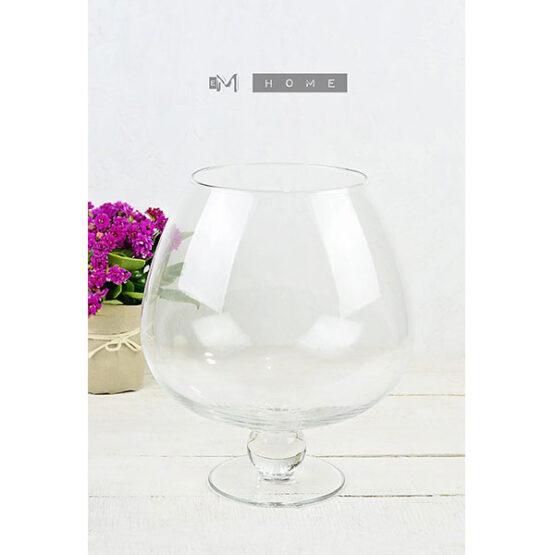 handmade-clear-glass-footed-glass-hurricane-pillar-tealight-candle-holder-wedding-centerpiece