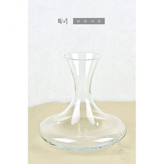 handmade-mouth-blown-clear-glass-carafe-decanter-wine-water-2l-tall-23cm