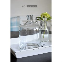 144-decorative-handmade-gallon-clear-glass-jug-bottle-flowers-bouquet-2-5-litres