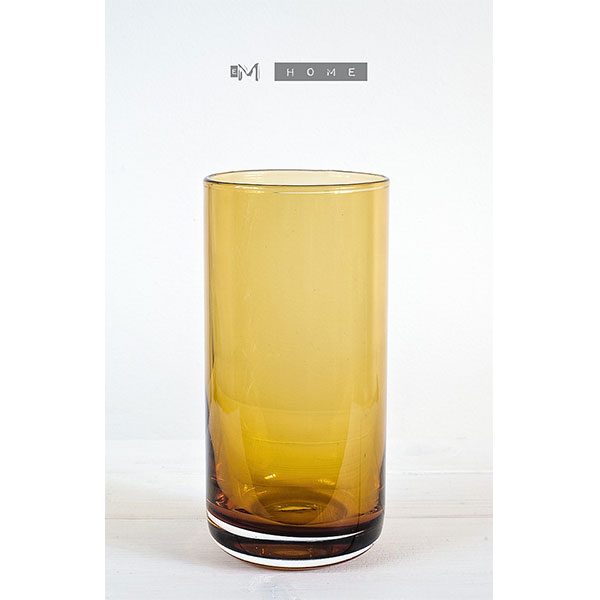 Tall amber hand crafted beverage juice drinking glasses Unusual drinking glasses uk