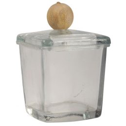 Glass Laura Storing Jar with Wooden Knob by Ib Laursen