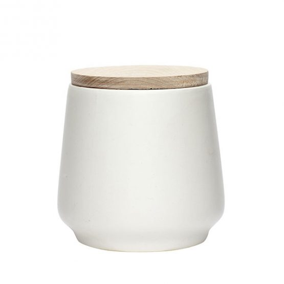 189-hubsch-ceramic-jar-white-with-hermetic-lid-medium-kitchen-storage