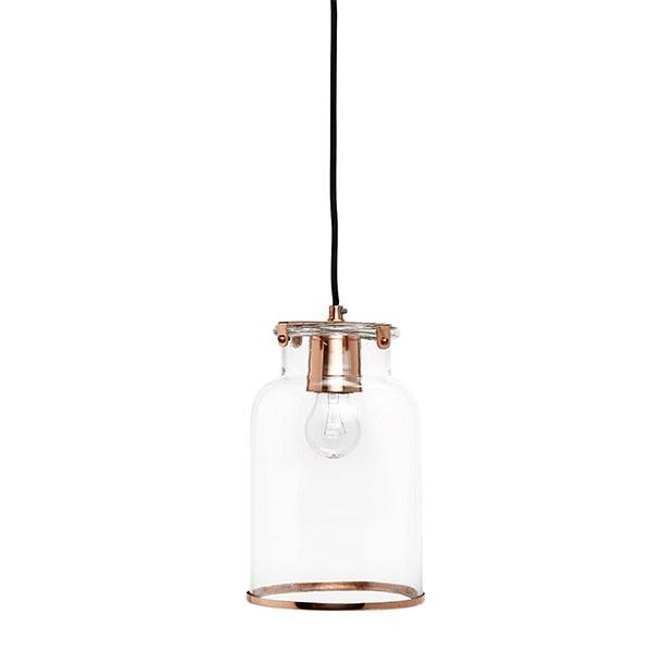 Modern glass ceiling pendant light lamp copper by hubsch 195 modern glass ceiling pendant light lamp copper aloadofball Images