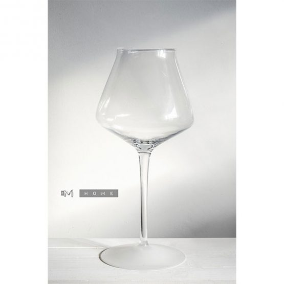 216-tall-glass-vase-centerpieces-candle-holder-bottom-frosted-footed-40-cm