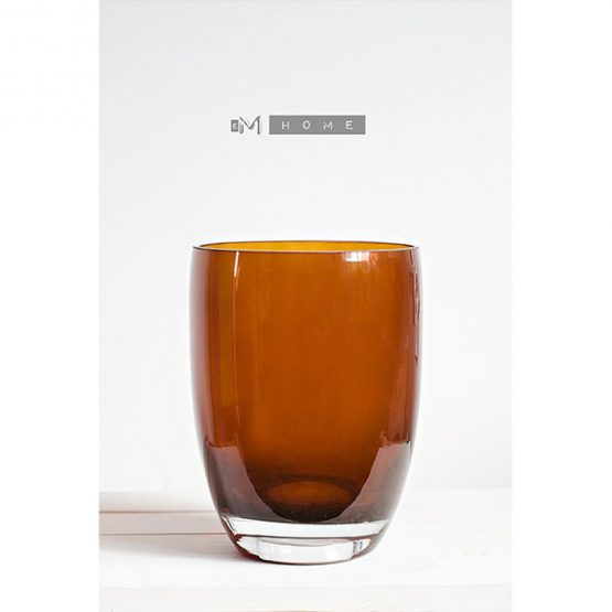 mouth-blown-coloured-flower-glass-vase-honey