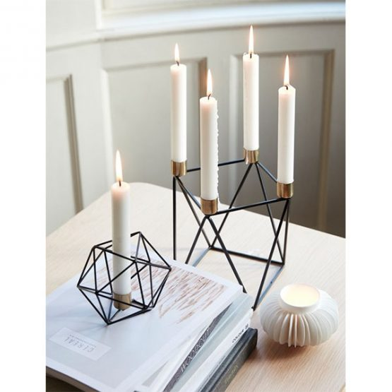 245-modern-pretty-candle-holder-brass-and-metal-danish-design-1