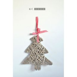 260-grey-wicker-tree-christmas-decoration-with-red-gingham-ribbon-31-cm