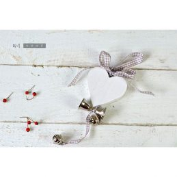 white-wooden-heart-bells-christmas-decoration-with-grey-gingham-ribbon