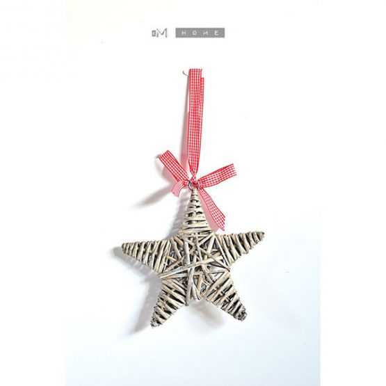 tobs-2-x-grey-wicker-star-christmas-decoration-with-red-gingham-ribbon-20-cm