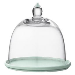 clear-glass-olivia-onion-dome-cloche-bell-cover-13-cm-w-mint-porcelain-coaster