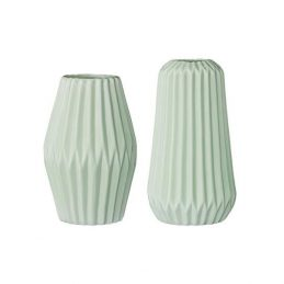 pretty-decorative-porcelain-vases-fluted-mint-two-assorted-sizes-danish-design