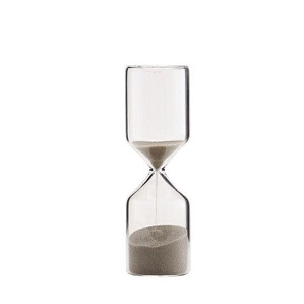 hourglass glass light brown sandglass timer sand decor danish design