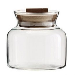 326-decorative-clear-glass-jar-with-bamboo-lid-kitchen-storage-danish-design