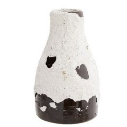 decorative-terracotta-vase-white-and-black-danish-design-by-madam-stoltz
