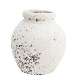 decorative-terracotta-vase-white-danish-design-by-madam-stoltz-tall