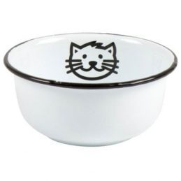 vintage-style-white-enamel-pet-cat-food-or-water-bowl-by-ib-laursen