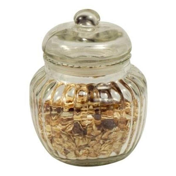 Small Handmade Glass Egg Jar Cookie Sweet Storage Jar Bowl With Lid 15 cm