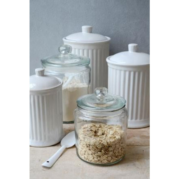 Decorative Glass Jar With Lid For Cookie Sweet Kitchen Storage Stunning Glass Decorative Jars With Lids