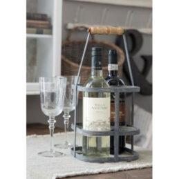 metal-zinc-bottle-basket-carrier-rack-with-wooden-handle-by-ib-laursen