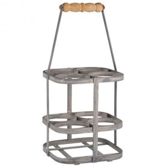 350-metal-zinc-bottle-basket-carrier-rack-with-wooden-handle-by-ib-laursen