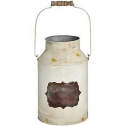 362-decorative-vintage-cream-tin-metal-churn