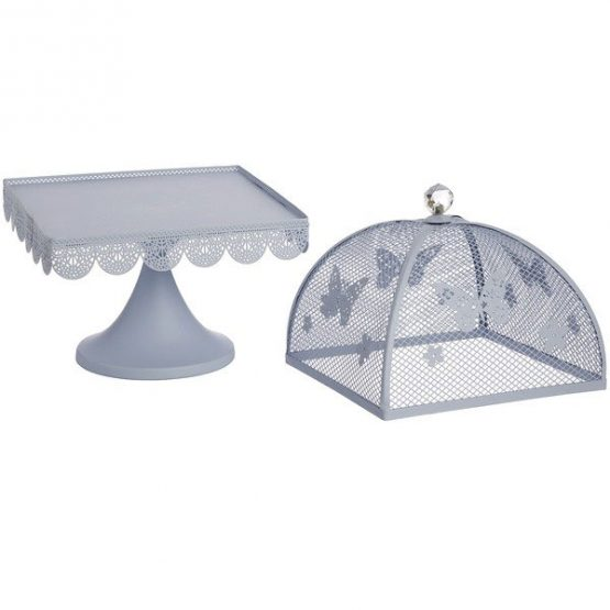 367-blue-butterfly-large-display-metal-cake-stand-with-mesh-lid-cover-24-cm-1