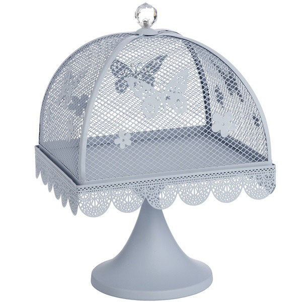 367-blue-butterfly-large-display-metal-cake-stand-with-mesh-lid-cover-24-cm