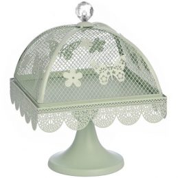mint-butterfly-medium-display-metal-cake-stand-with-mesh-lid-cover-20-cm