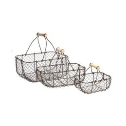 metal-wire-rustic-storage-trug-baskets-set-of-3-with-wooden-handles