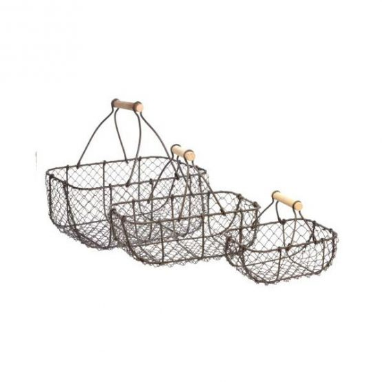 399-metal-wire-rustic-storage-trug-baskets-set-of-3-with-wooden-handles