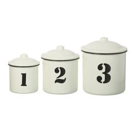 white-black-enamel-set-of-3-distressed-kitchen-storage-canister-jar