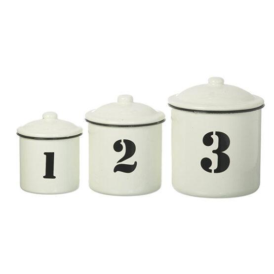 418-farmhouse-style-white-black-enamel-set-of-3-distressed-kitchen-storage-canister-jar