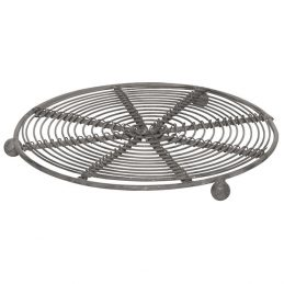 419-metal-hot-dish-stand-trivet-mat-wire-zink-danish-by-ib-laursen